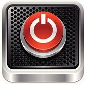 Vector illustration power button.