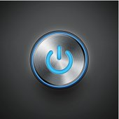 power button with blue light