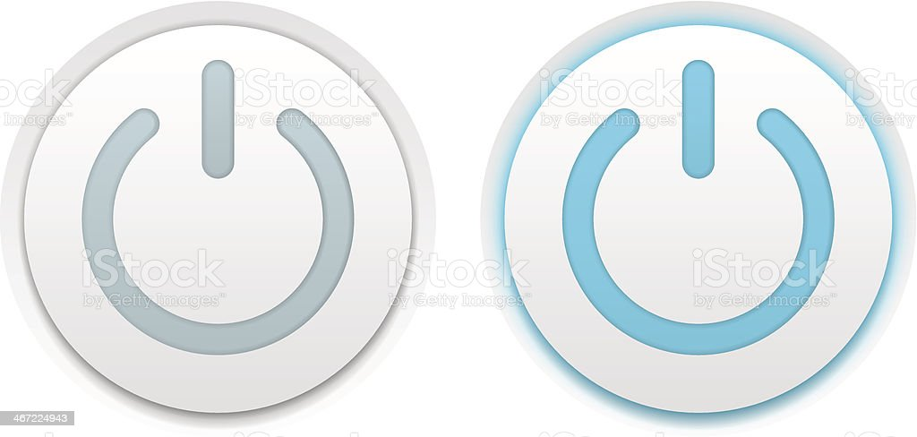 Power buttons royalty-free stock vector art