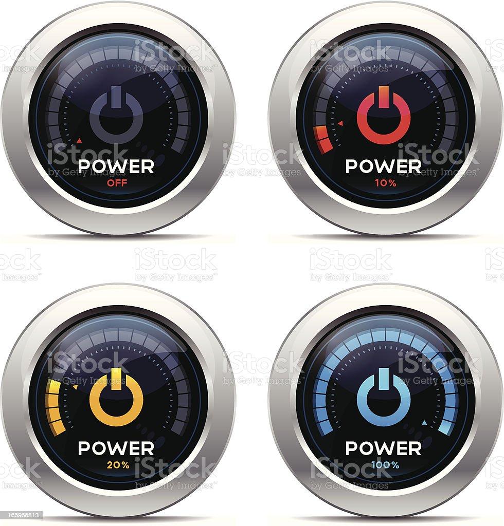 Power Dashboard royalty-free stock vector art