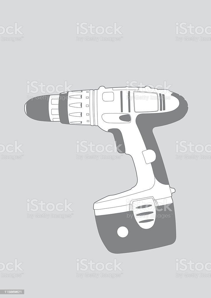 Power Drill illustration royalty-free stock vector art