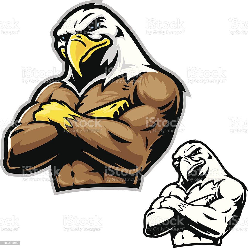 Power Eagle Mascot vector art illustration
