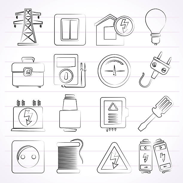 Royalty Free Circuit Breaker Panel Clip Art, Vector Images