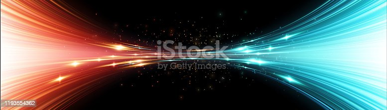 Power energy. Futuristic Flash. Magic sparks. Neon lines. Glow effect. Beautiful light. Glint cosmic rays. Mystical shine streaks. Empty place. Abstract background. Vector EPS10