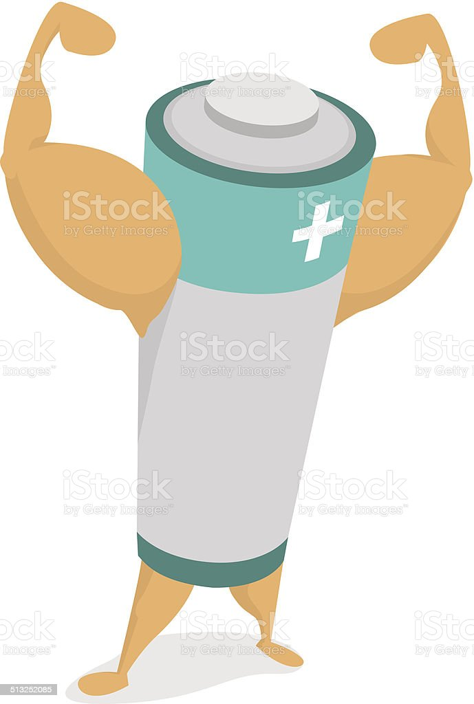 royalty free battery cartoon human muscle energy clip art vector rh istockphoto com energy clipart gif energy clip art images