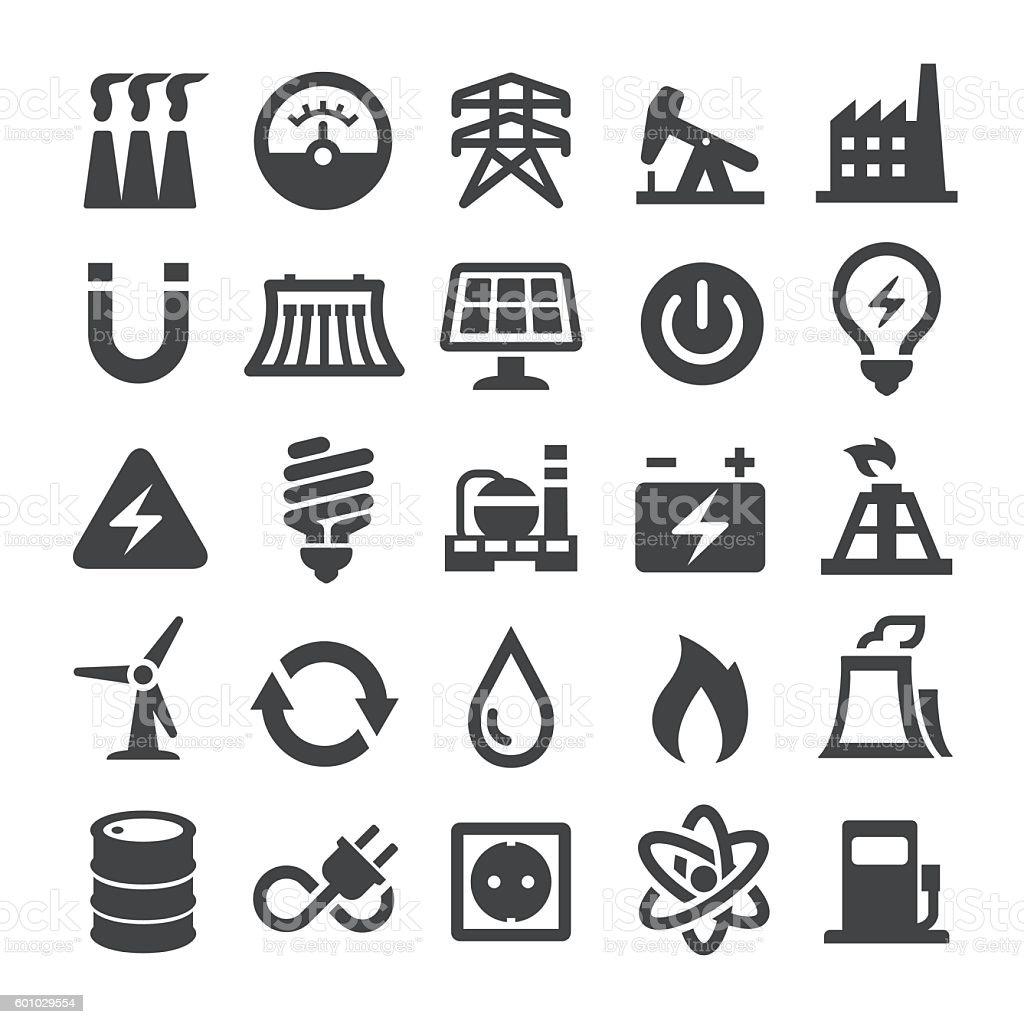 Power Generation and Fuel Icons - Smart Series – Vektorgrafik