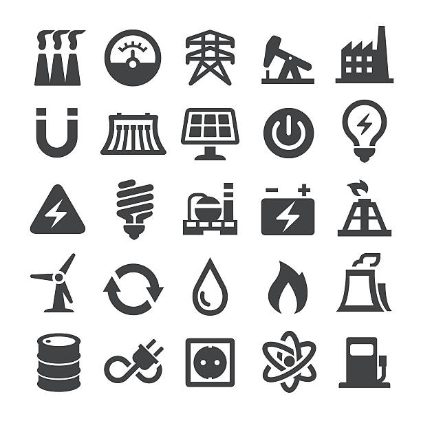Power Generation and Fuel Icons - Smart Series – Vektorgrafik