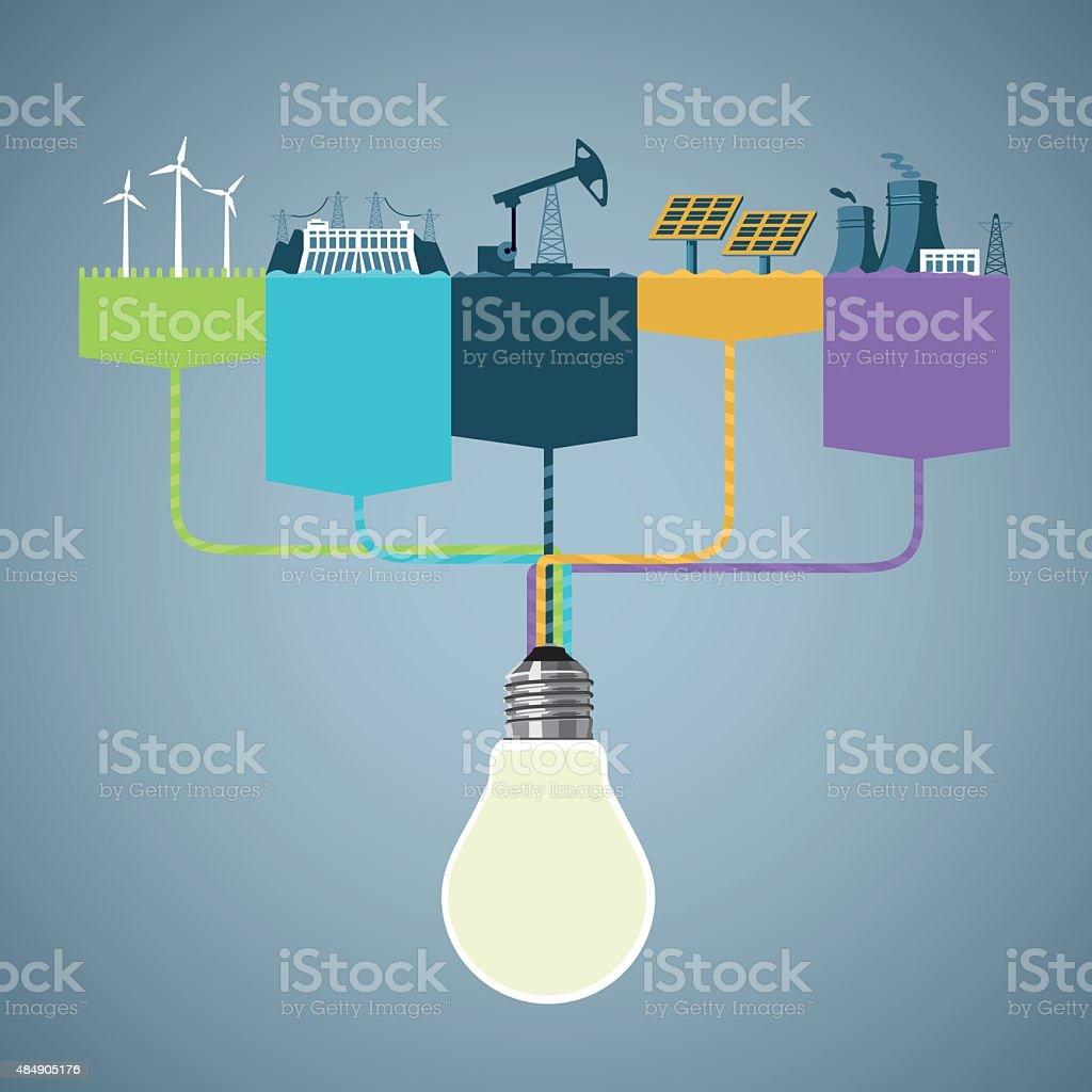 Power génération - Illustration vectorielle