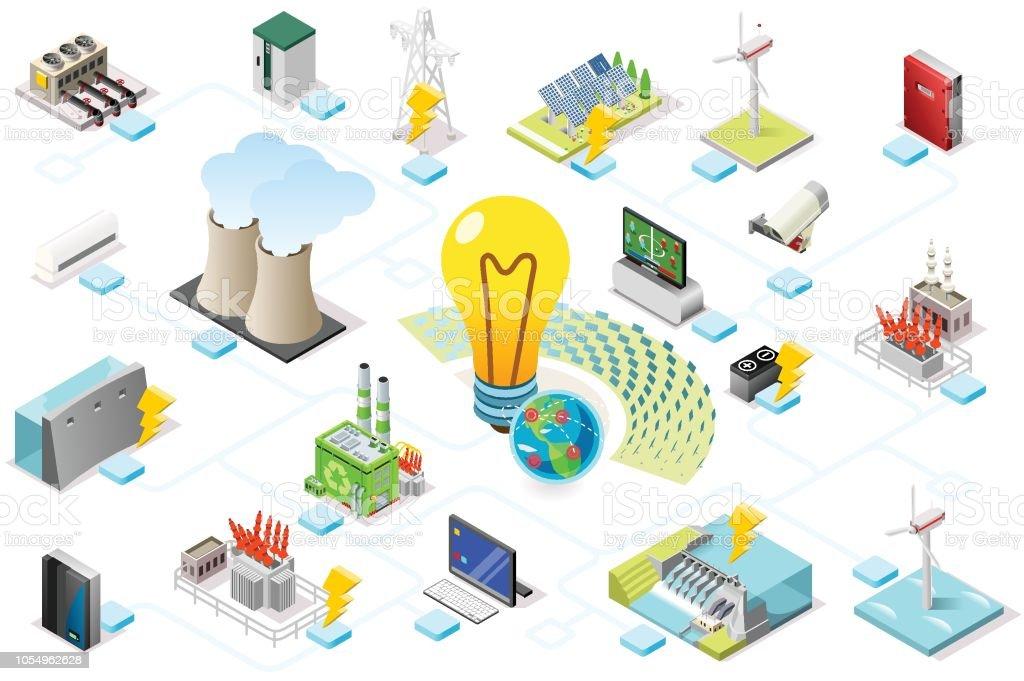 Infografía de rejilla de energía de energía ilustración de infografía de rejilla de energía de energía y más vectores libres de derechos de abstracto libre de derechos