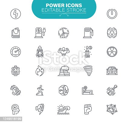 Biofuel, Alternative Energy, Recycling, Green Technology, Neural Network, , Education, Outline Icon Set