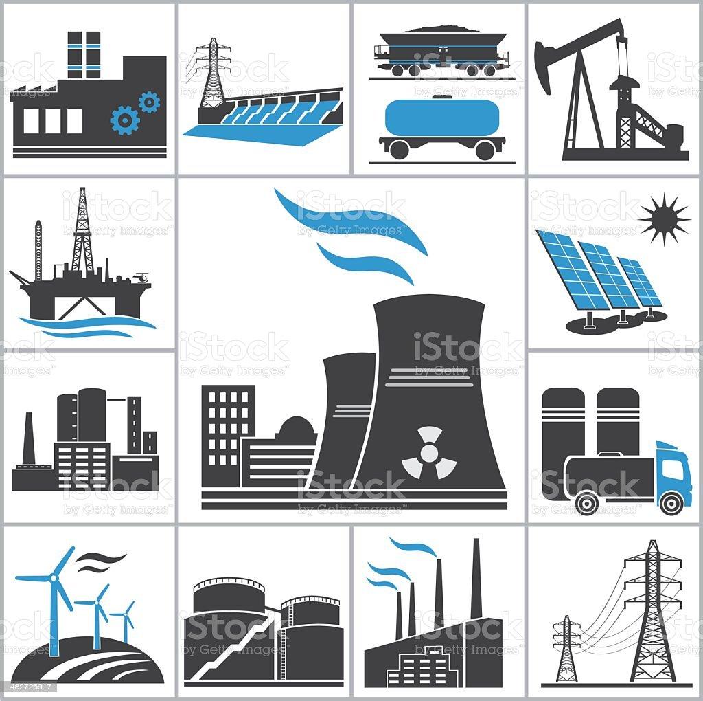 Power icons vector art illustration