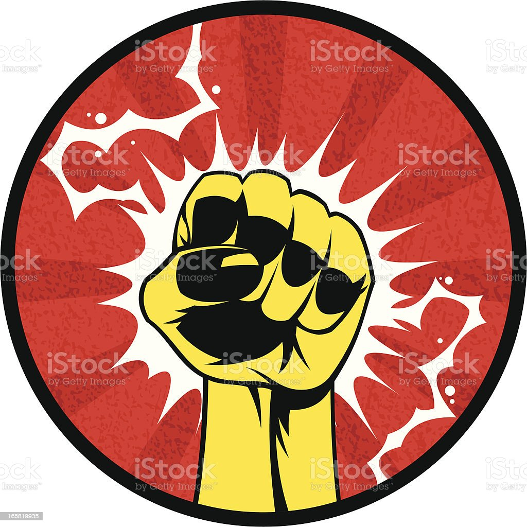 Power in fist royalty-free stock vector art