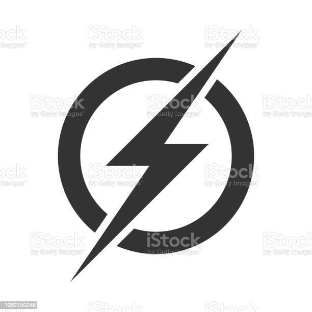 Powerblitzlogosymbol Vektor Elektrische Schnell Donner Blitz Symbol Auf Transparenten Hintergrund Isoliert Stock Vektor Art und mehr Bilder von Beleuchtet