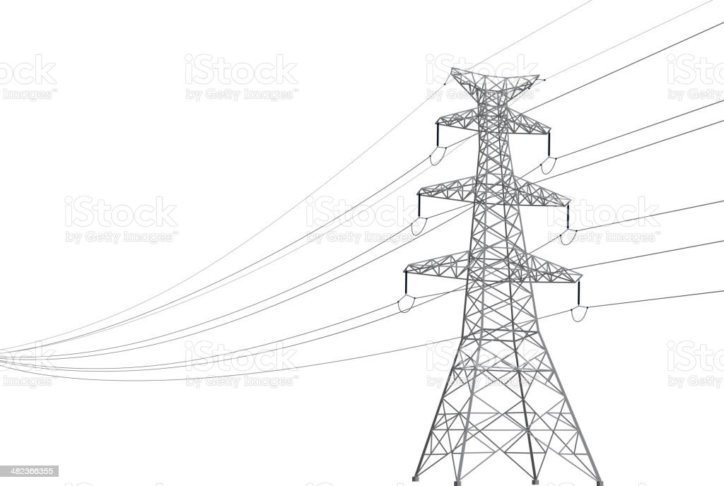 Power Line vector art illustration