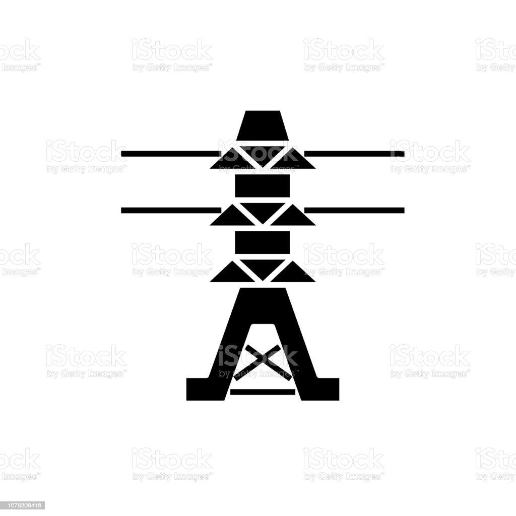 Symbol Trafostation trafostation vektorgrafiken und illustrationen - istock