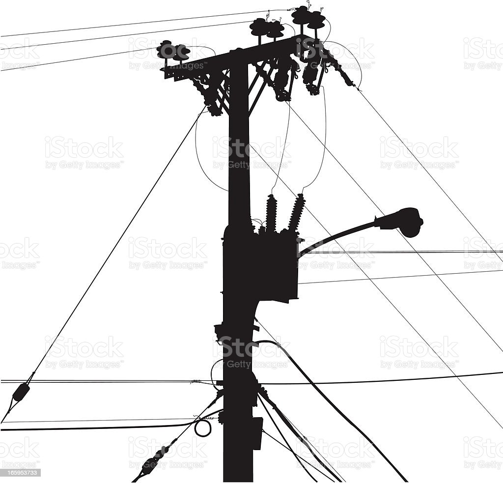 power lines stock vector art  u0026 more images of accidents and disasters