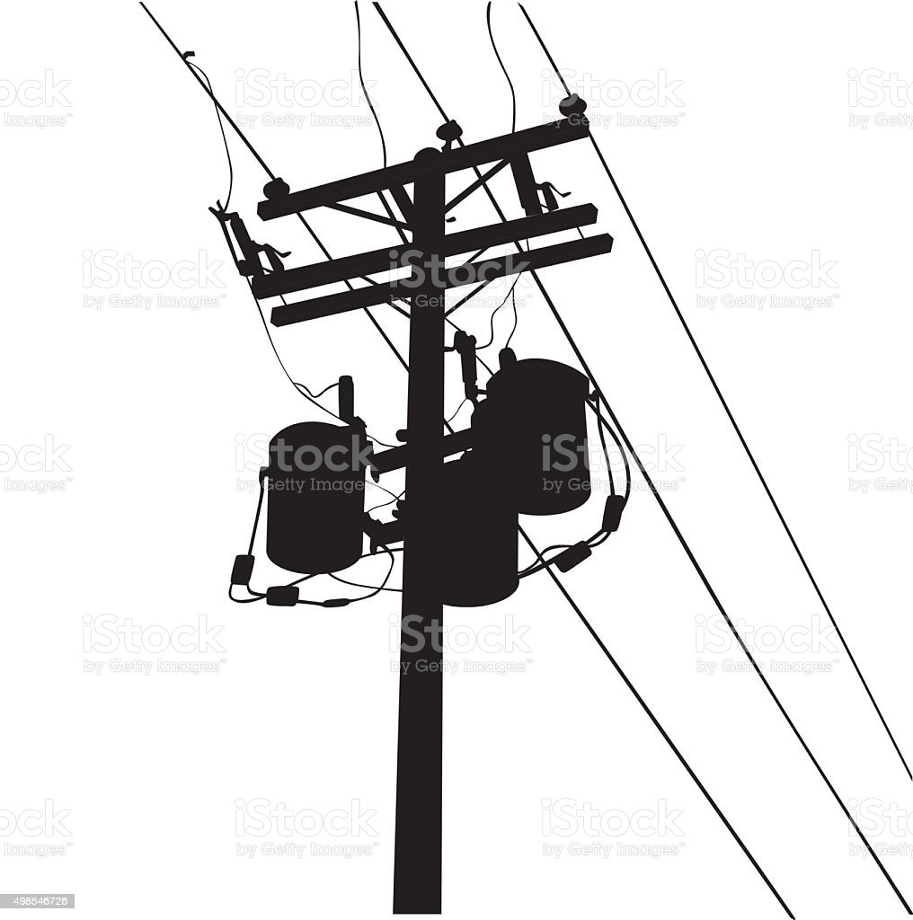 Power Lines vector art illustration