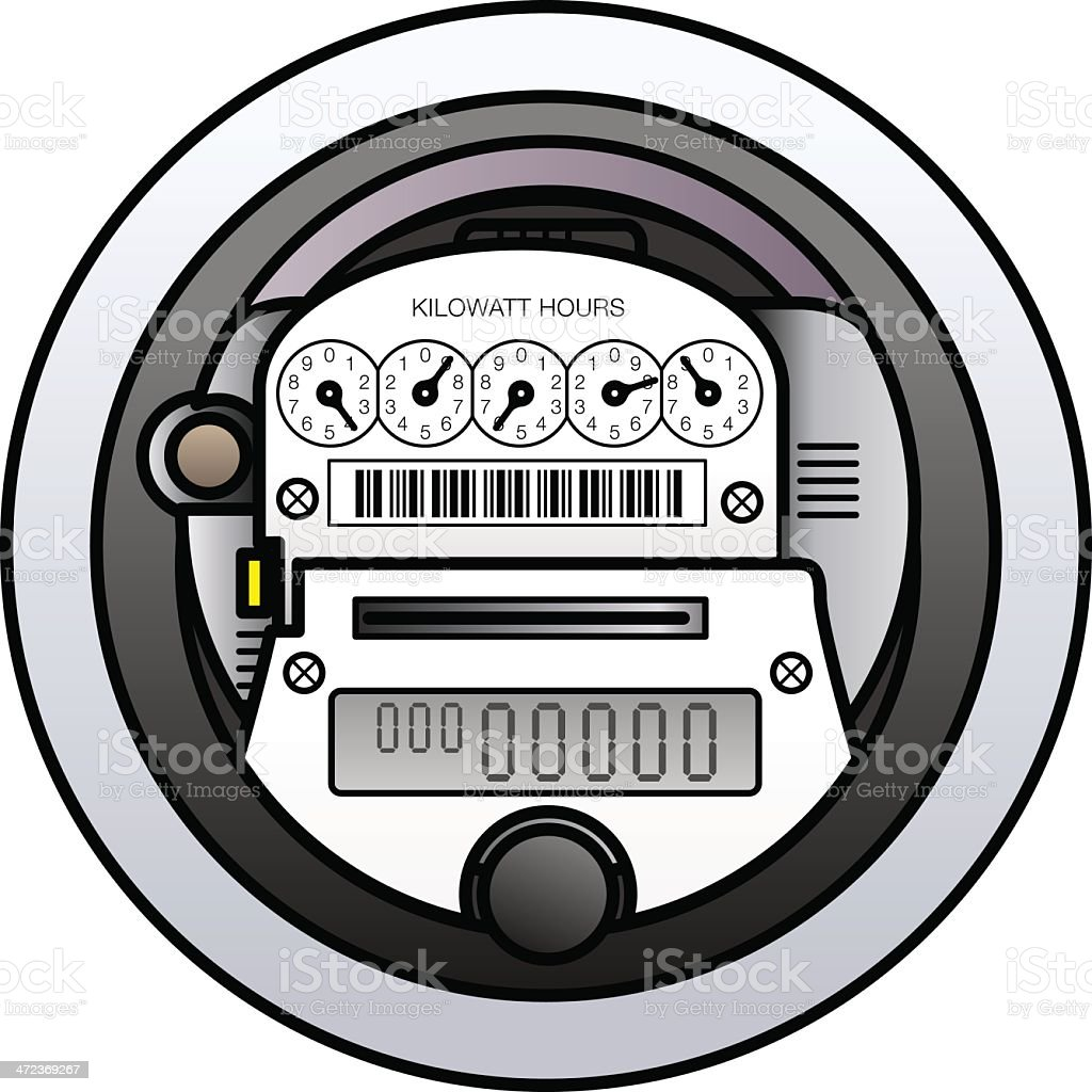 Power Meter Stock Vector Art & More Images of Box - Container ...