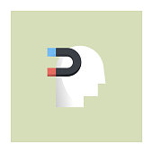 Power of Influence Icon Flat Design