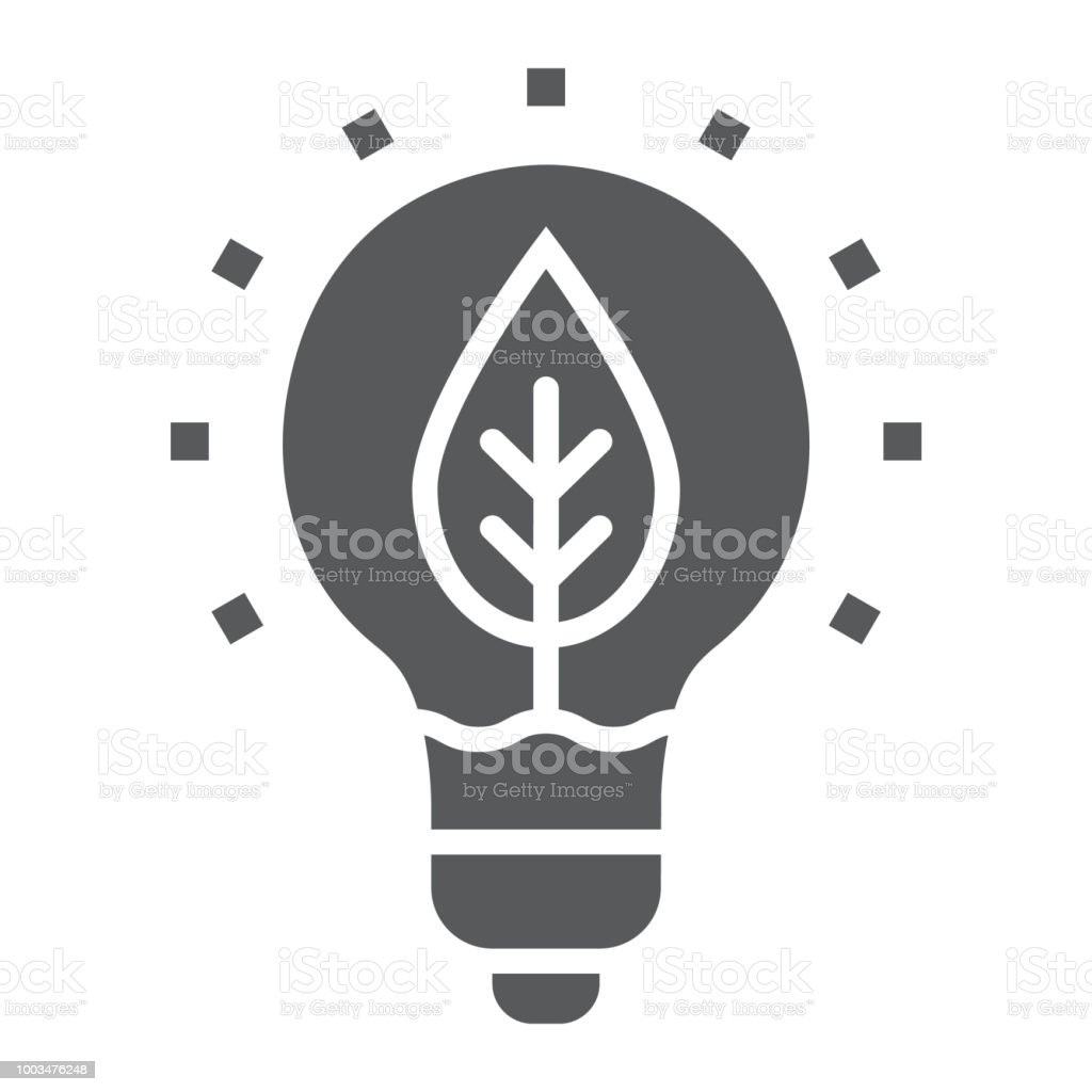 Power Of Nature Glyph Icon Ecology And Energy Green
