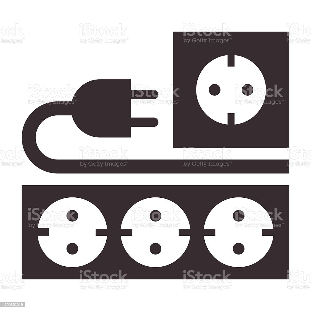 Power Outlet Plug And Socket Sign Stock Vector Art More Images Of