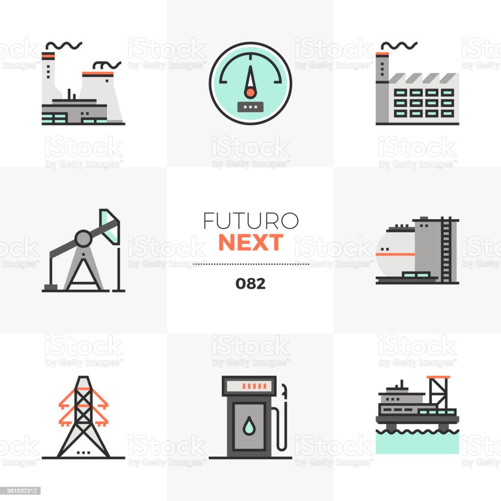 Power Plant Futuro Next Icons Stock Vector Art More Images Of Nuclear Line Diagram Royalty Free