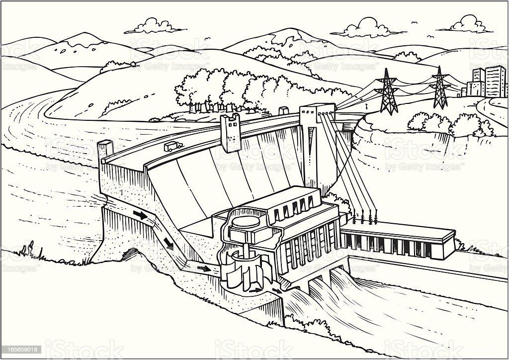 Power plant royalty-free stock vector art