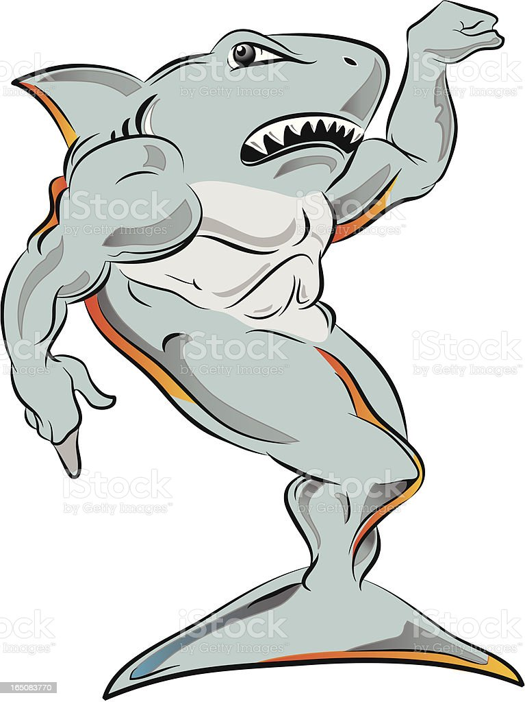 Power Shark Stock Vector Art & More Images of Anatomy 165083770 | iStock