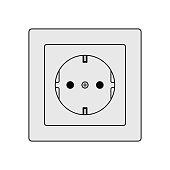 Power socket. European Type F socket