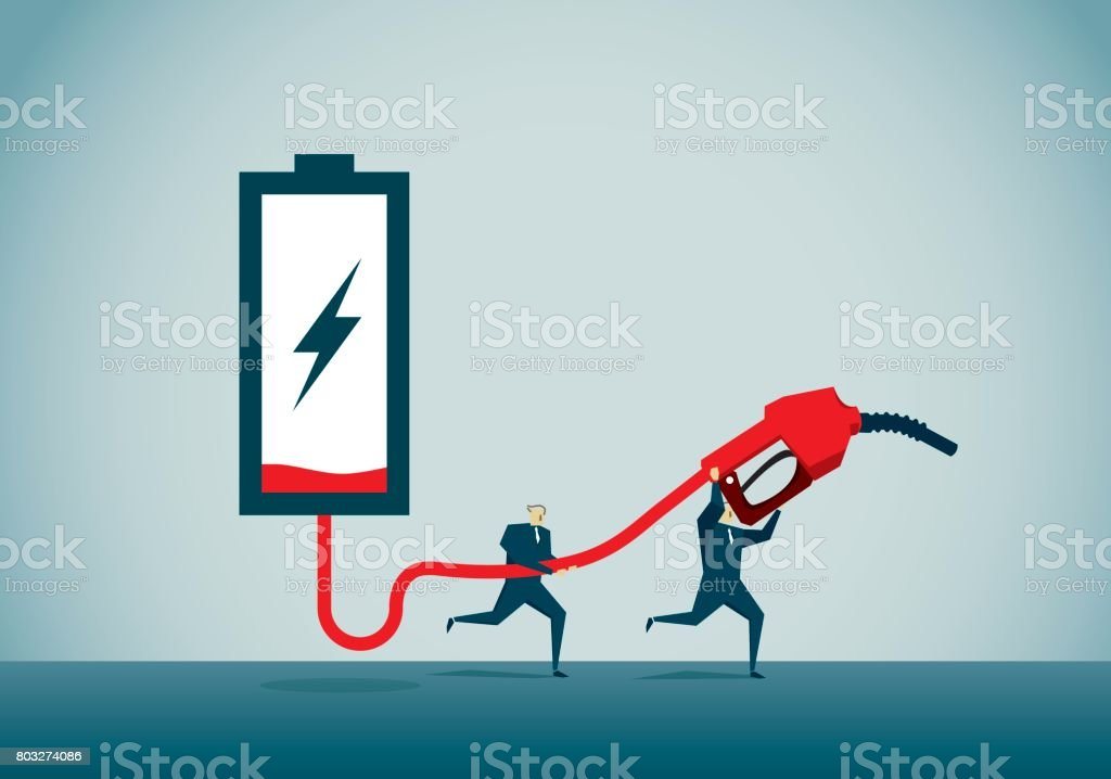 power supply vector art illustration