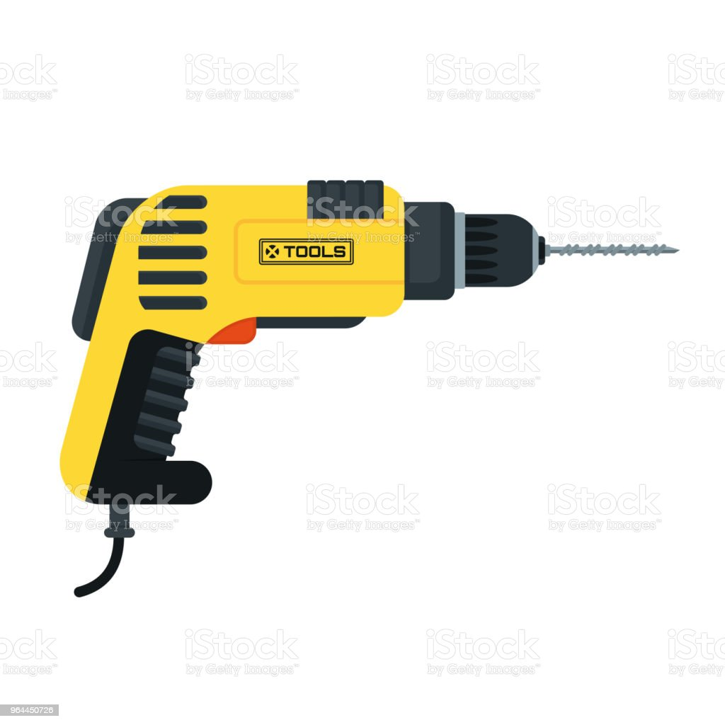 Power Tools Drill Stock Illustration - Download Image Now