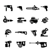 Power tools - vector set icons