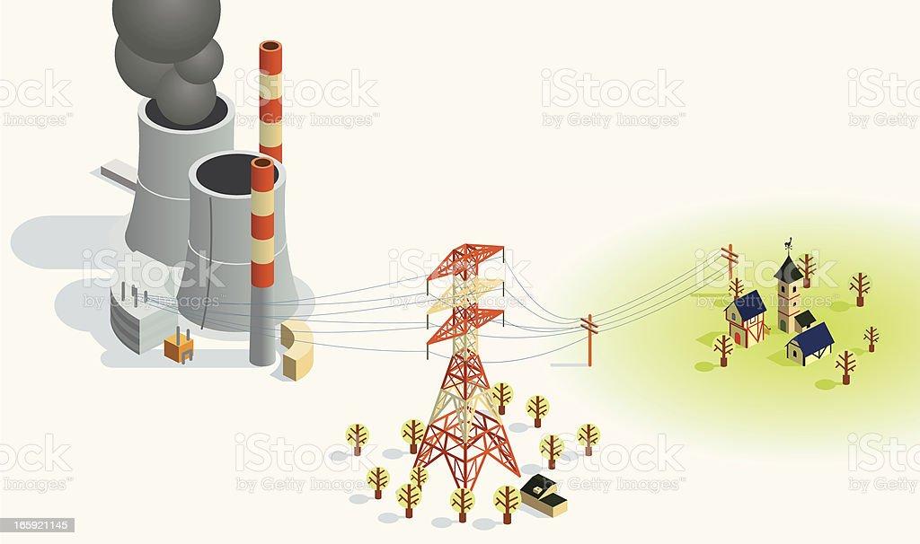 power transfer vector art illustration