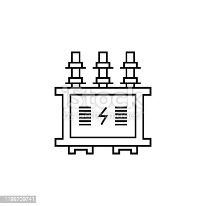 power transformer line icon. Elements of energy illustration icons. Signs, symbols can be used for web, logo, mobile app, UI, UX on white background