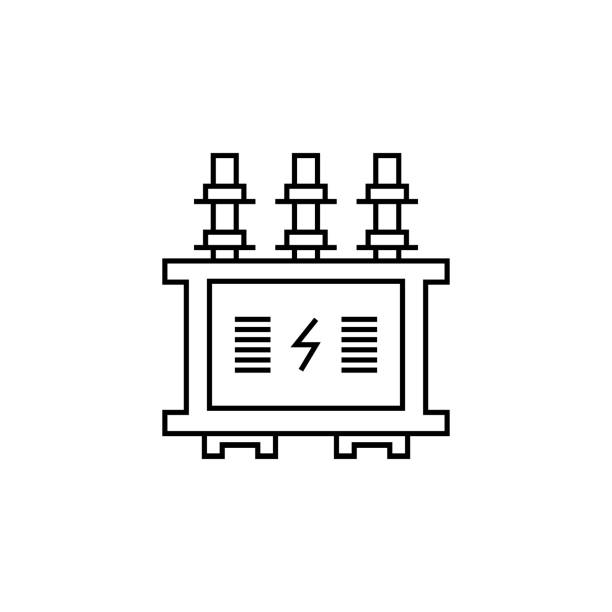 power transformer line icon. Elements of energy illustration icons. Signs, symbols can be used for web, logo, mobile app, UI, UX power transformer line icon. Elements of energy illustration icons. Signs, symbols can be used for web, logo, mobile app, UI, UX on white background transformer stock illustrations