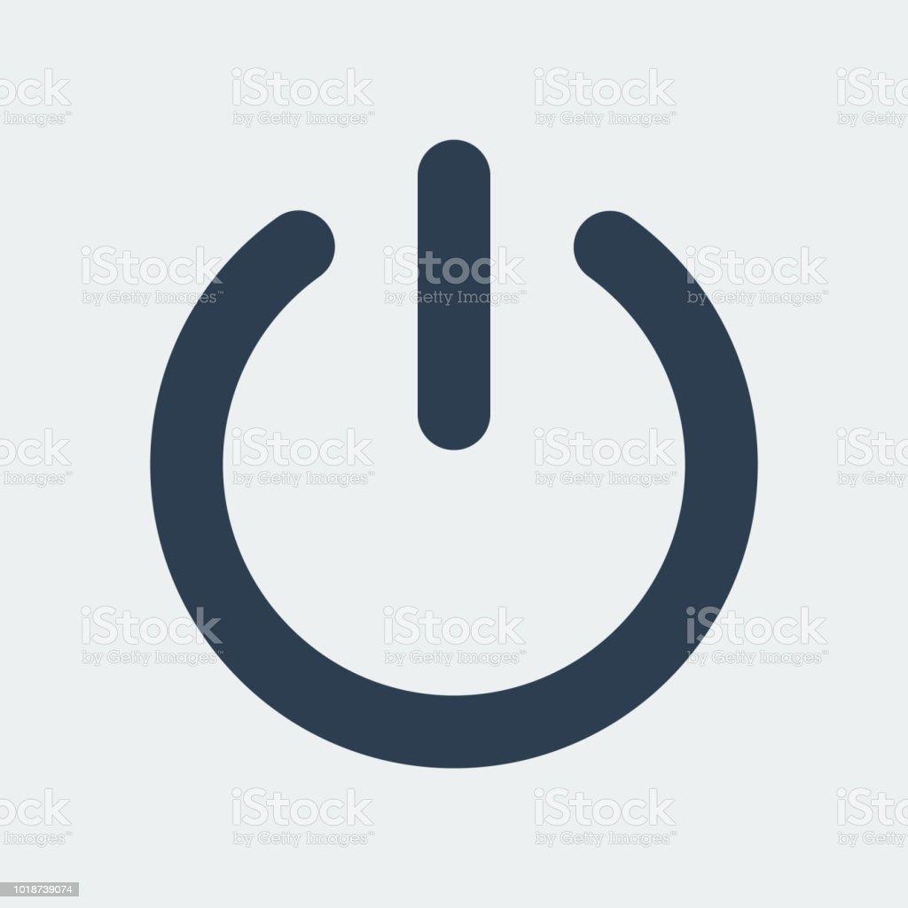 Strom ausschalten Icon.Vector Illustration - Lizenzfrei Abmelden Vektorgrafik