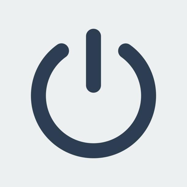 stockillustraties, clipart, cartoons en iconen met power icon.vector illustratie uitschakelen - energy