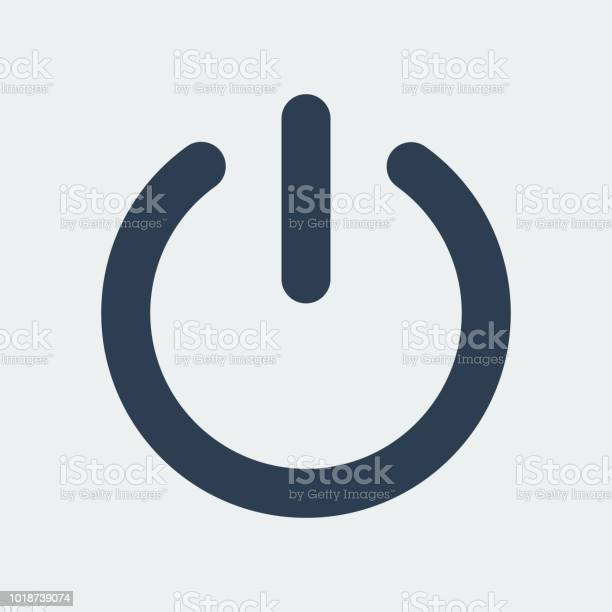 Strom Ausschalten Iconvector Illustration Stock Vektor Art und mehr Bilder von Abmelden
