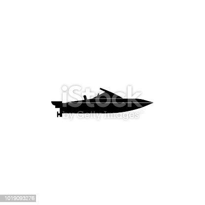 powerboat icon. Water transport elements. Premium quality graphic design icon. Simple icon for websites, web design, mobile app, info graphics on white background