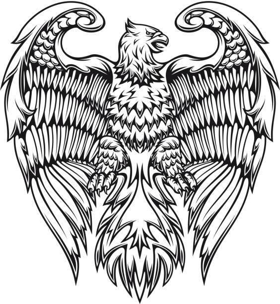 건장함 이글 또는 griffin - 그리핀 stock illustrations