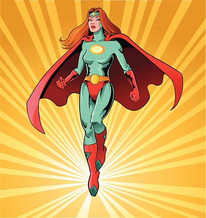 Powerful Female Superhero