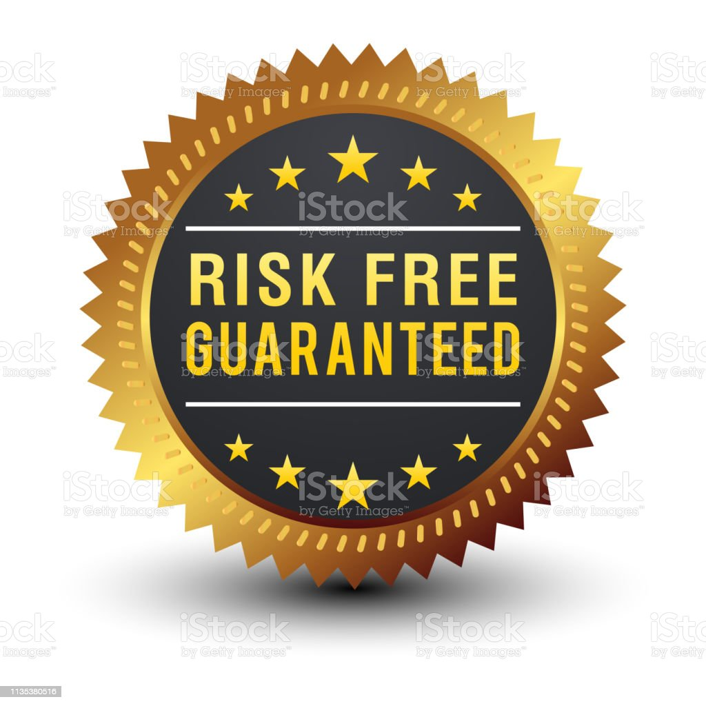 8fd1587b96d3 Powerful Risk Free Guaranteed Golden Sign Vector Illustration Stock ...