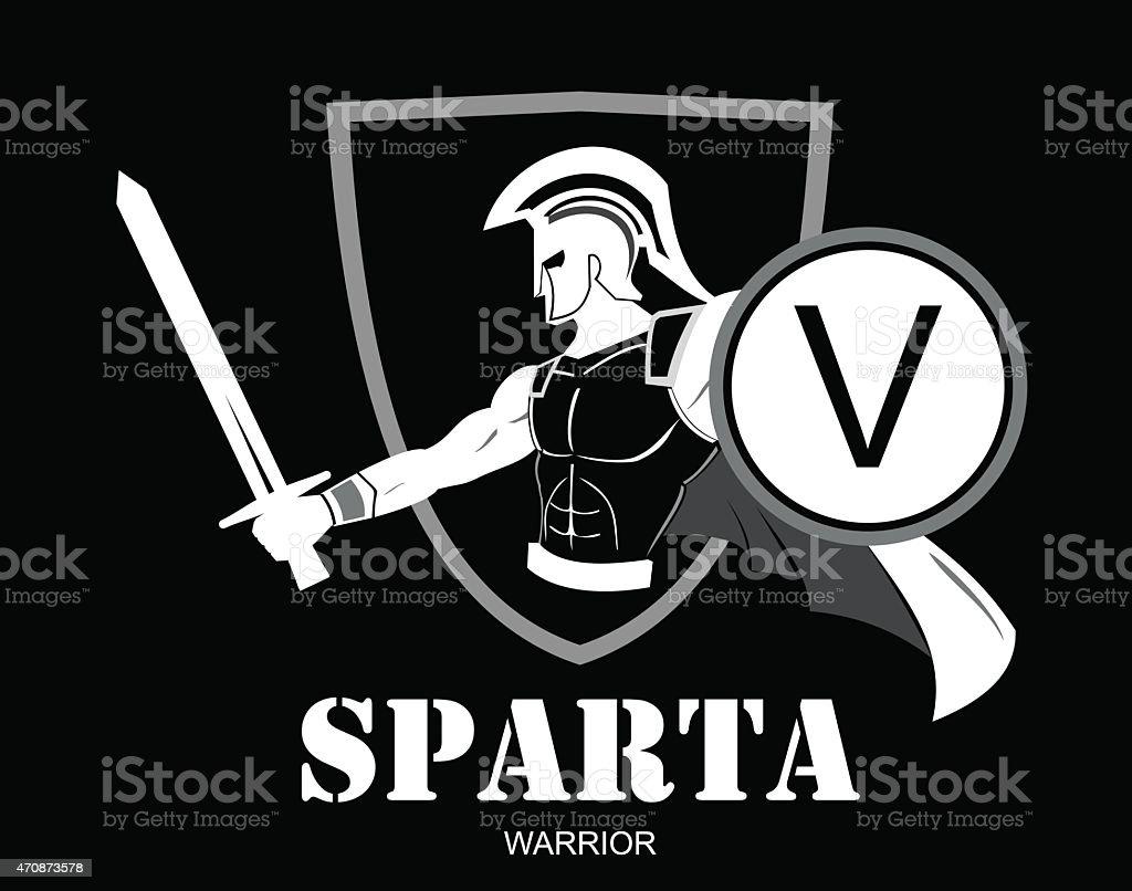 Praetorian White Trojan Or Spartan Warrior Holding Shield ...