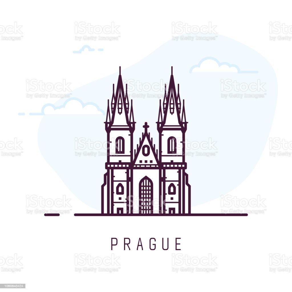 Bâtiment de la ville de Prague bâtiment de la ville de prague vecteurs libres de droits et plus d'images vectorielles de architecture libre de droits