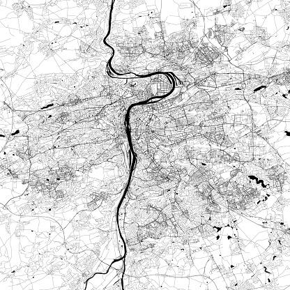 Prague, Czech Republic Vector Map