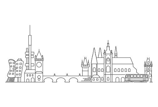 Prague skyline, Czech Republic.
