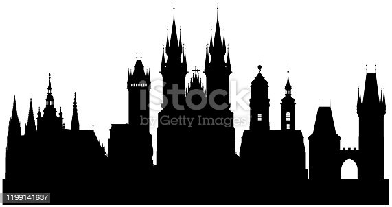 Prague, Cheque Republic. All buildings are complete, detailed and moveable.