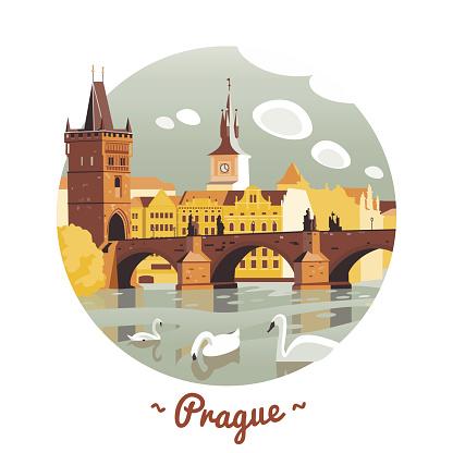 Prague vector Illustration