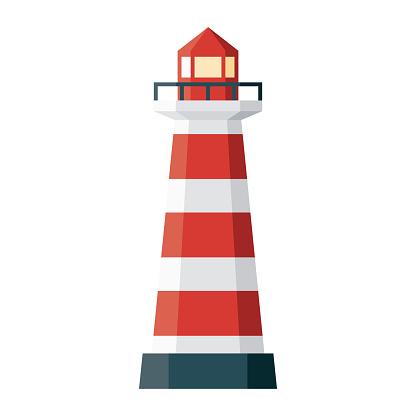 Praia da Barra Lighthouse Icon on Transparent Background