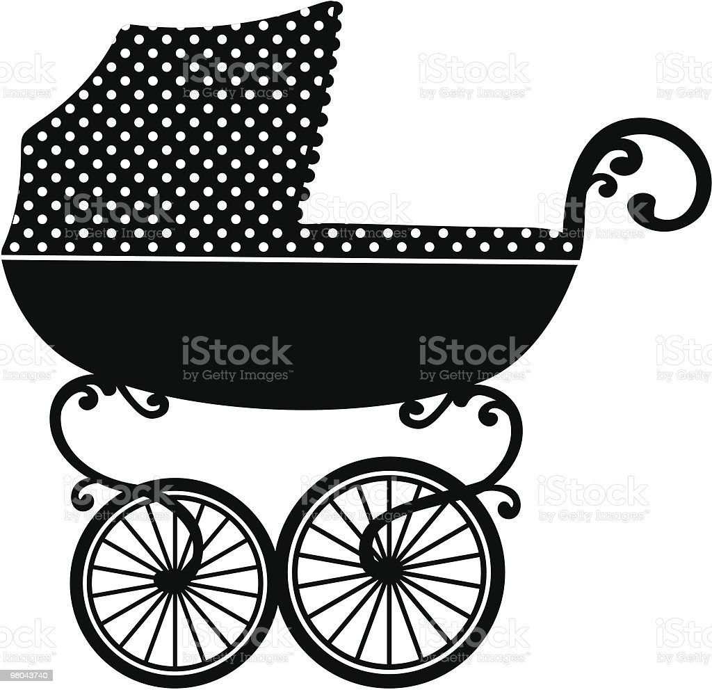 pram vector art illustration